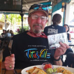 Cecil Cornish sports a Titusville: Launch From Here t-shirt.