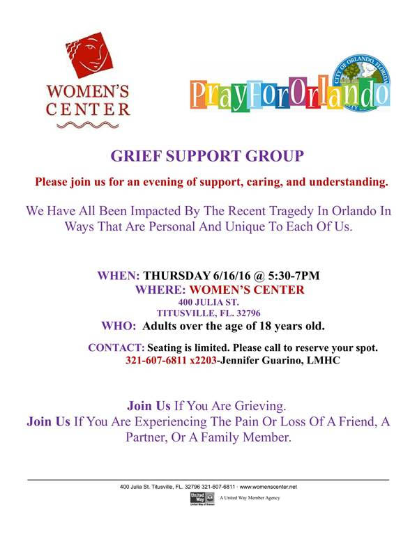Grief Support Group Titusville Fl Chamber Of Commerce