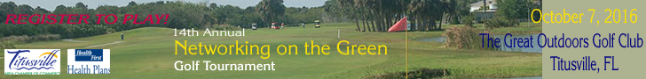 2016 Networking on the Green Golf Tournament ad