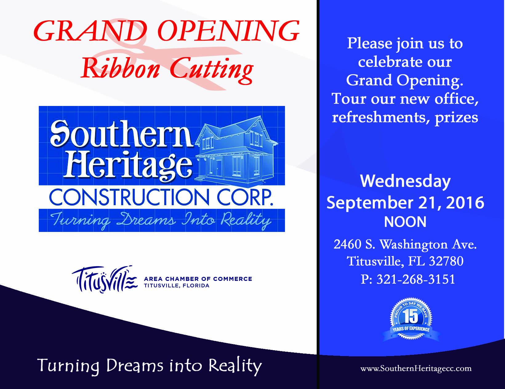 grand opening postcard titusville fl chamber of commerce