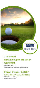 2017 Networking on the Green Golf Tournament registration and sponsorship form. Titusville Area Chamber of Commerce Florida
