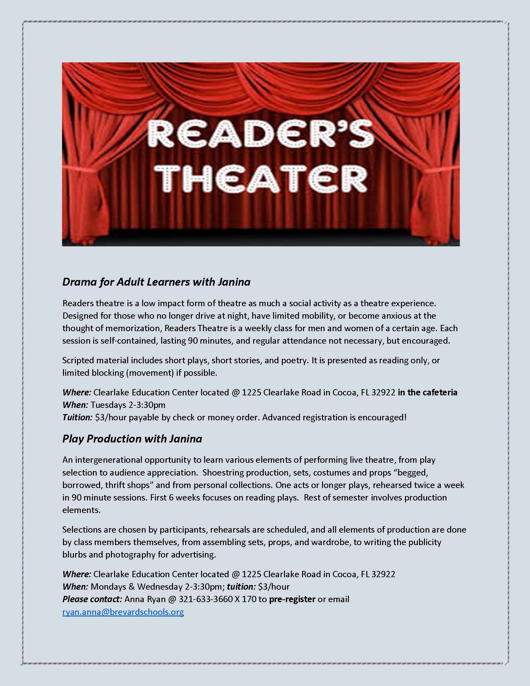 Drama For Learners With Janina Shoemaker