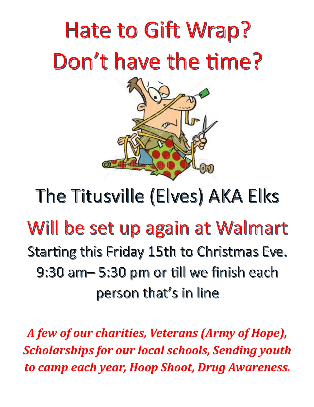 Christmas Gift Wrapping - Titusville FL Chamber of Commerce