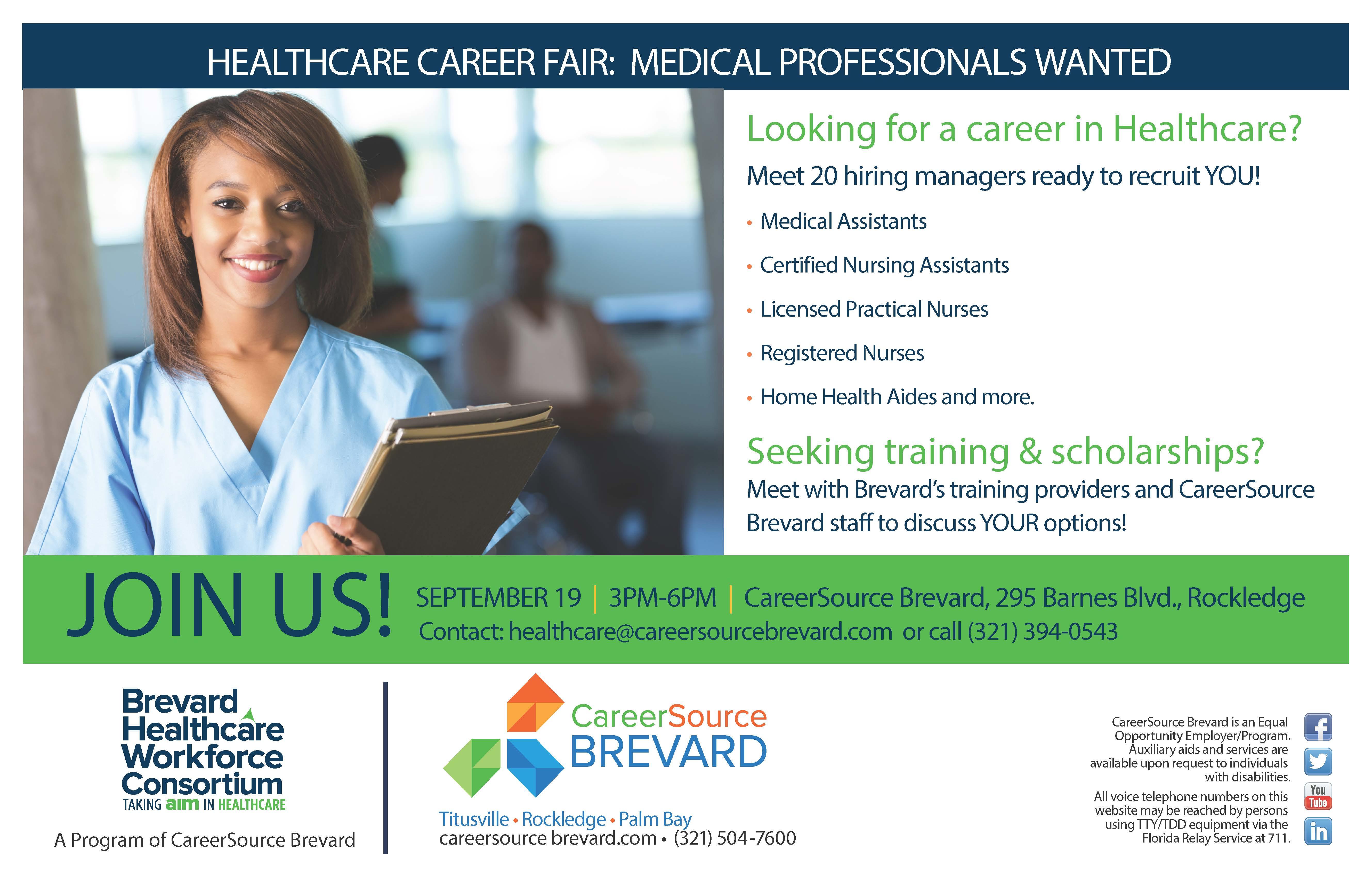 healthcare career fair titusville fl chamber of commercehealthcare career fair